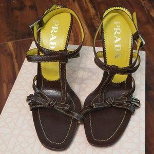 🔥Vintage Authentic Prada Strappy Ankle Heels